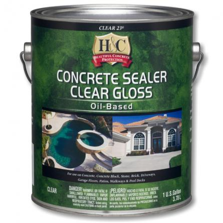Sherwin Williams H&C Concrete sealer clear gloss oil-based