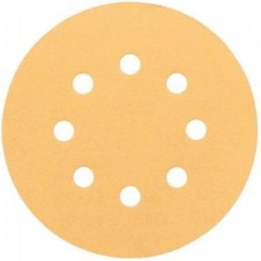 Шлифовальный материал на бумажной основе липучка GOLD 125мм 8 отв