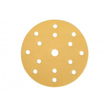 Шлифовальный материал на бумажной основе липучка GOLD 150мм 15 отв