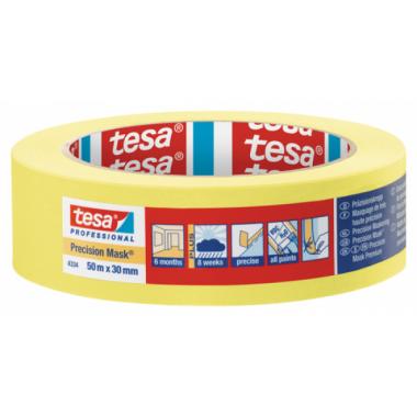 Tesa малярная лента четкий край желтая 30мм*50м